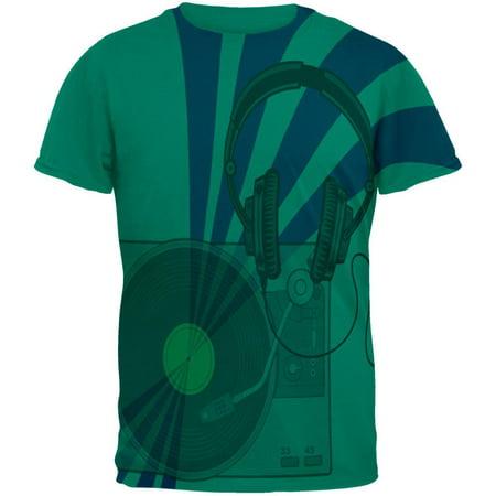 DJ Starter Kit All Over Jade Green Adult T-Shirt