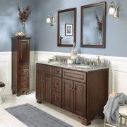 Foremost Hawthorne 60 In Dark Walnut Double Bathroom Vanity With Mirrors
