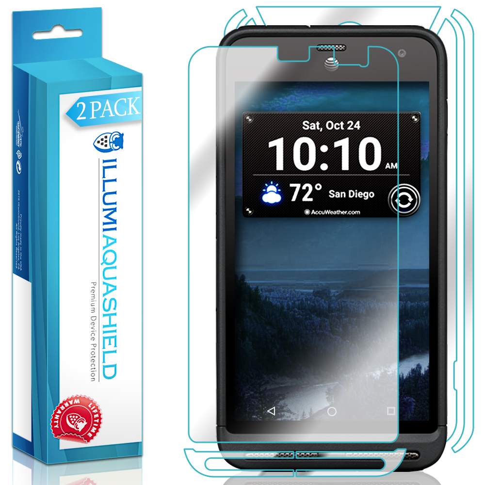 2x iLLumi AquaShield Front + Back Panel Protector for Kyocera DuraForce XD
