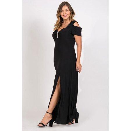 The Dress Outlet Rm Richards Long Dress Plus Size Black Formal