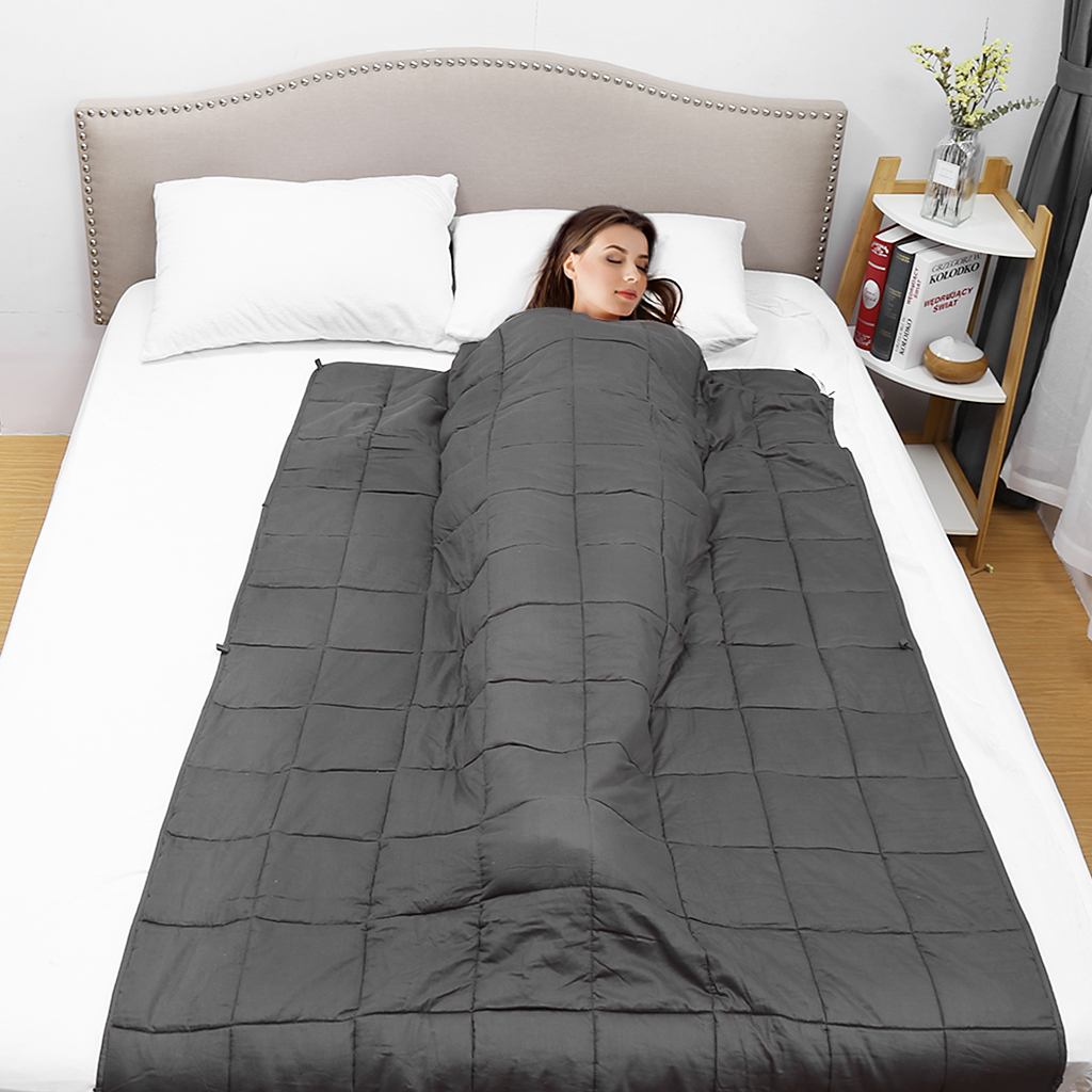 WarmHug Weighted Blanket 100/% Cotton Heavy Blanket with Premium Glass Beads