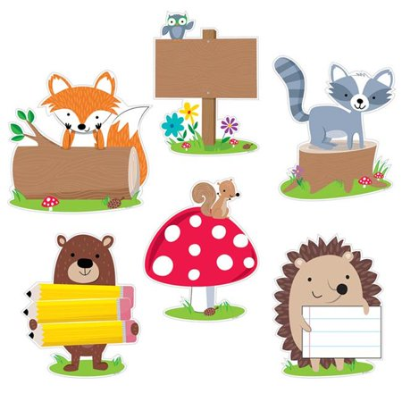 Creative Teaching Press CTP7048BN 10 in. Woodland Friends Designer Cut-Outs - Pack of 3 - image 1 de 1