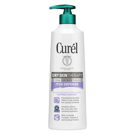 Curel Dry Skin Therapy Itch Defense Hydra Silk Moisturizer for Dry, Itchy Skin 12 fl oz