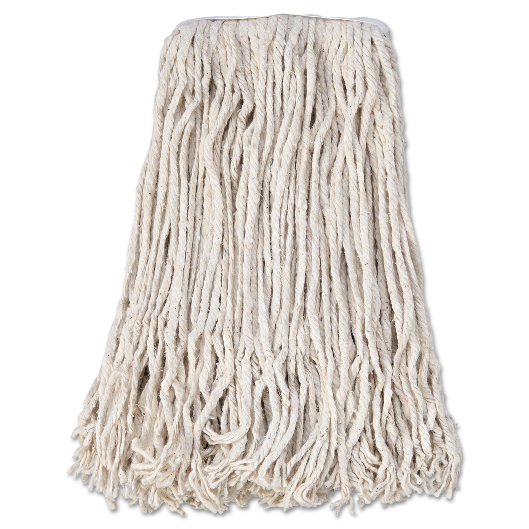 Boardwalk Banded Cotton Mop Heads, 12 count by BOARDWALK