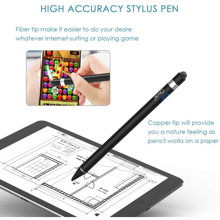 CISCLE Stylus Pens for Touch Screens, 2 in 1 High Sensitive Rechargeable Active Stylus Pen, 5 Mins Auto-Off Smart - image 4 of 4