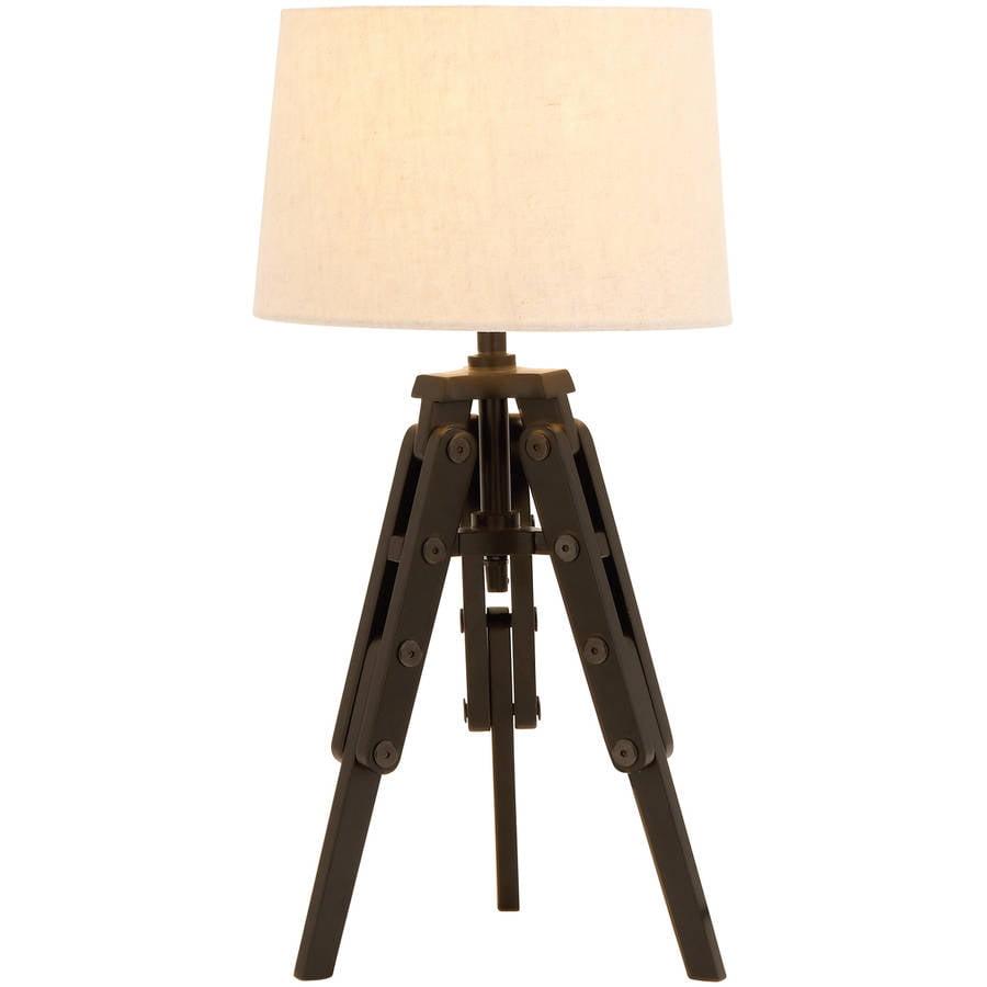 Decmode Wood Tripod Lamp, Multi Color