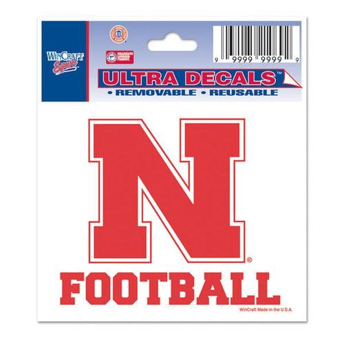 Nebraska Neb Cornhuskers 3x4 Sports Decal