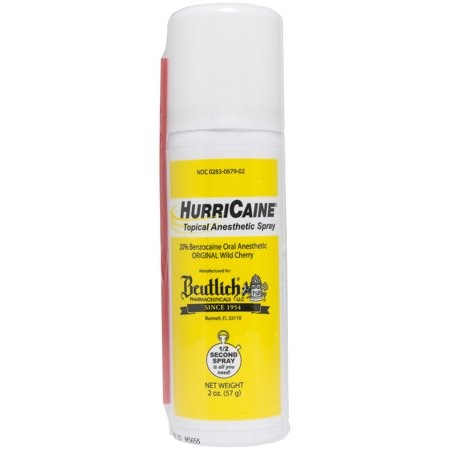 Topical Anesthetic - Hurricaine Topical Anesthetic Spray 2 oz Wild Cherry