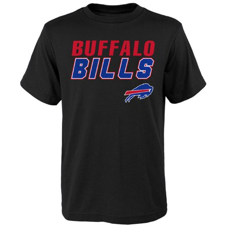 Youth Black Buffalo Bills Outline T-Shirt