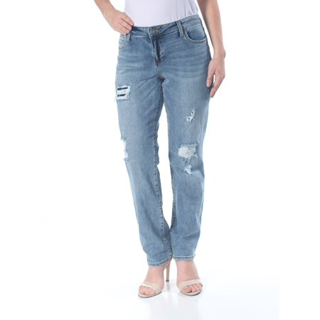 KUT Womens Blue Ripped Cut Out Back Pocket Boyfriend Jeans  Size: 12