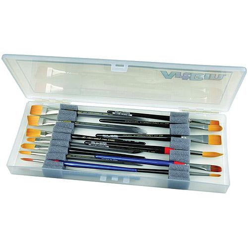 """ArtBin Brush Box, 14""""x6""""x1.25"""" Translucent"""