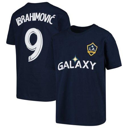 Zlatan Ibrahimovic LA Galaxy Youth Name & Number T-Shirt - Navy