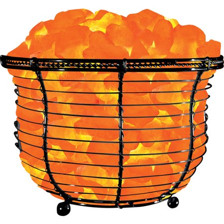 Himalayan Ionic Natural Salt Basket Lamp, Tall