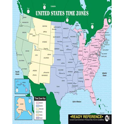 US And World Maps With Time Zones  Walmart