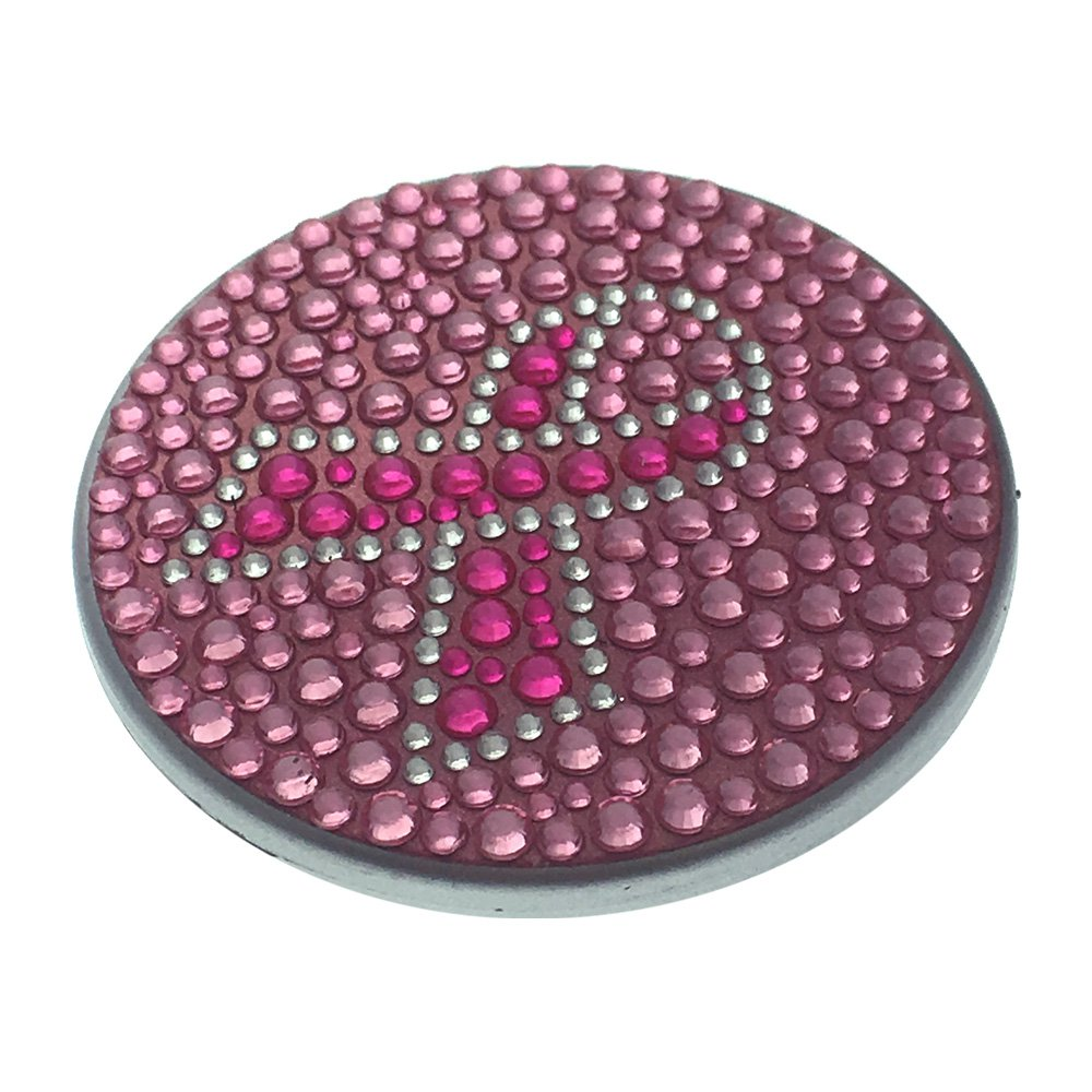 Compact Bling Beauty Cosmetics Make-Up Mirror - Brown/ Pink