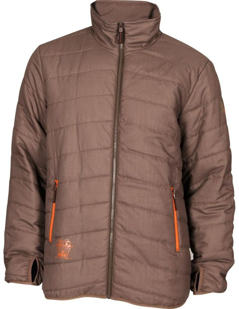 Rocky Outdoor Jacket Men Athletic Mobility L2 Quilted Brown HW00121 by Rocky