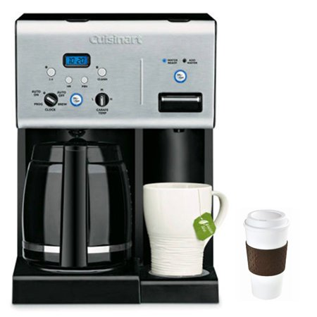 Cuisinart CHW-12 Coffee Plus 12-Cup Programmable Coffeemaker with Hot Water System, Black ...
