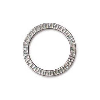 Rhodium Plated Pewter Radiant Ring Link Large 32mm (1)