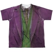 Dark Knight Joker Costume (Front Back Print) Big Boys Sublimation Shirt