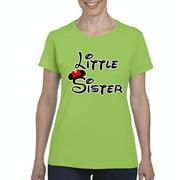 Cartoon Girl Little Sister Women's Short Sleeve T-Shirt
