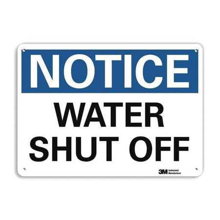 LYLE U5-1619-RA_10X7 Notice Sign,RecycldReflecAlum,10inWx7inH G1814200