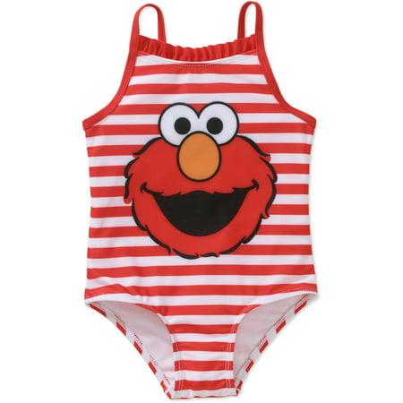 Elmo Toddler Girls' One-Piece Swimsuit - Life Size Elmo