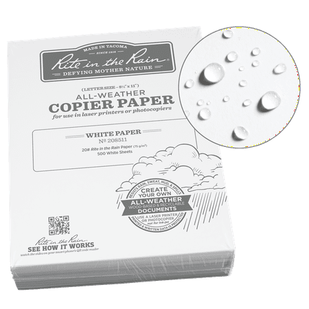 Rite in the Rain Weatherproof Bulk Copier Paper, 8.5