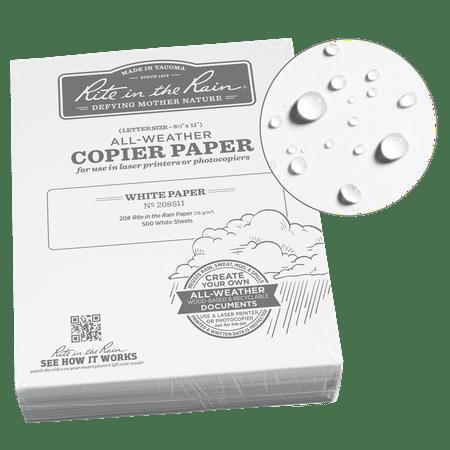 Rite in the Rain Weatherproof Bulk Copier Paper, 8.5