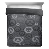 Overwatch Heroes Black/Gray Reversible Comforter