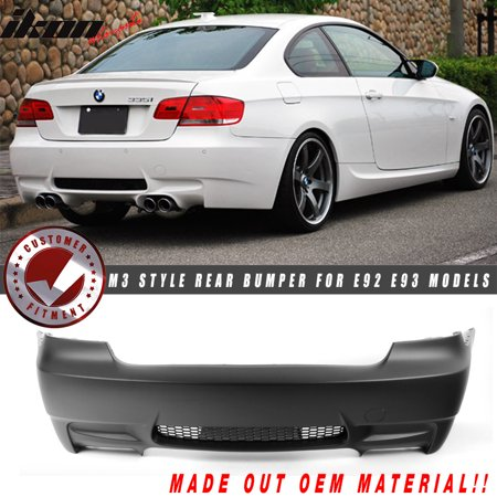 Fits 07-13 BMW 328i 335i E92 E93 3 Series M3 Style Rear Bumper Conversion