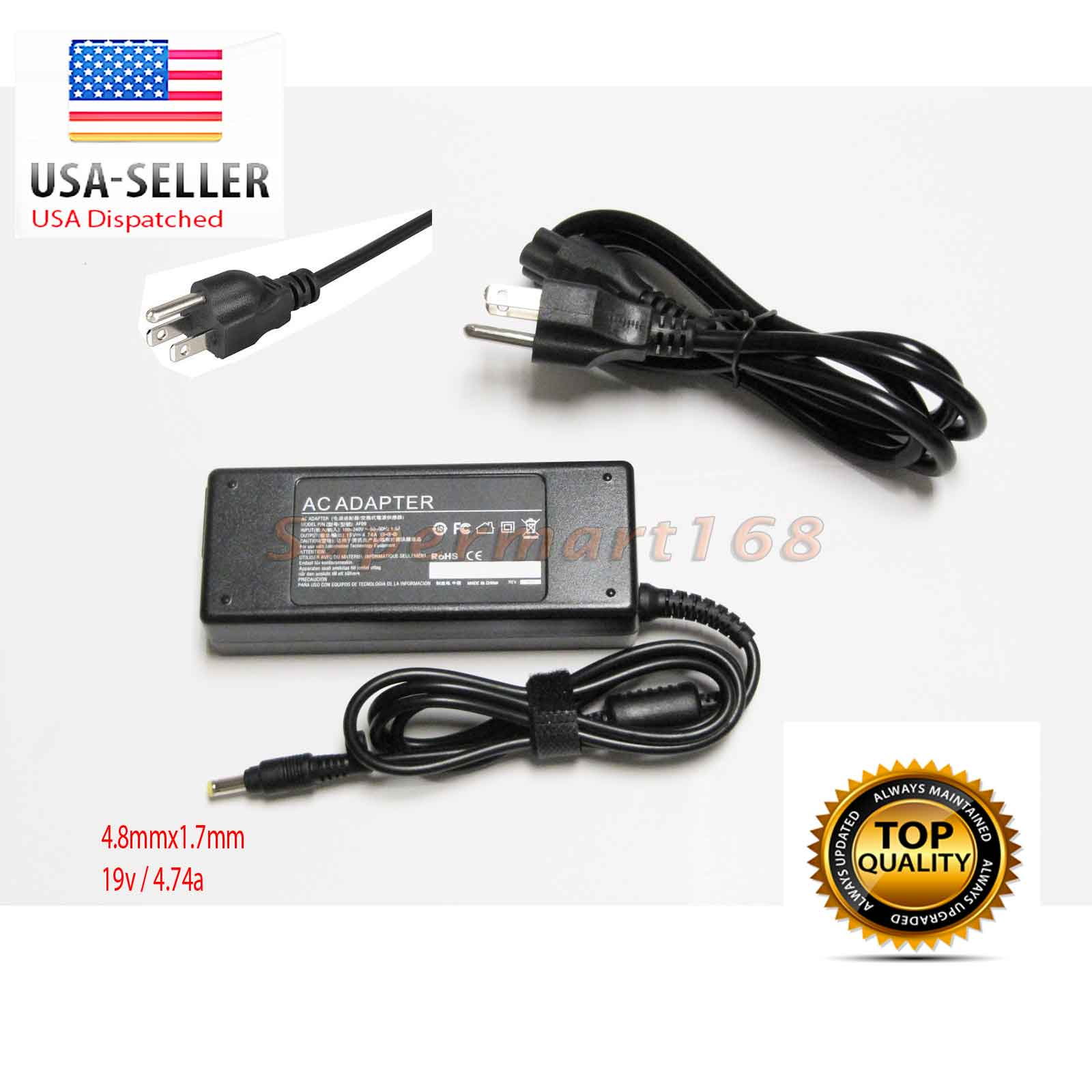 90w New Ac Adapter Charger Power Supply For Hp Pavilion Dv6000 Laptop Compaq Nc4000 Nc8000 Dv8000 Dv9000 Cord Plug Za 4817