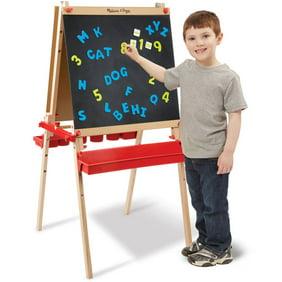 Melissa Doug Deluxe Standing Art Easel Dry Erase Board Chalkboard Paper Roller