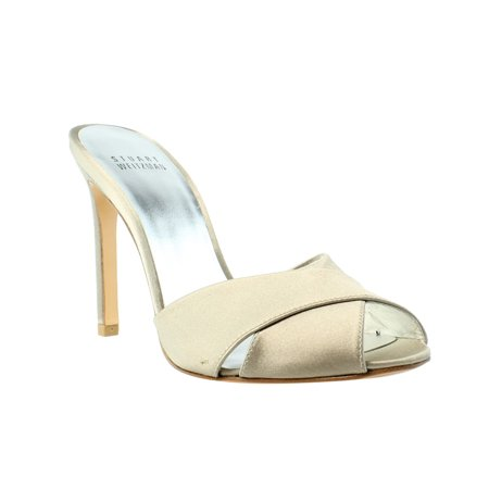 Stuart Weitzman Sarong Misty Satin Open Toe Womens Heels Size 4