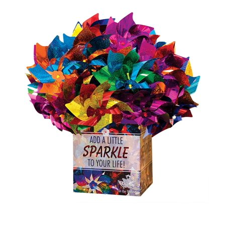 In the Breeze Mylar Rainbow Pinwheel - Assorted Two-Tone Color Spinners - 48 Pieces](Rainbow Pinwheel)