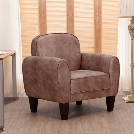 Goplus Single Sofa Leisure Arm Chair Accent Upholstered Living Room Office Furniture