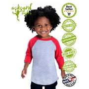 c4f46144d Awkward Styles Jesus Loves Me Toddler Raglan Kids Jesus Shirt ...