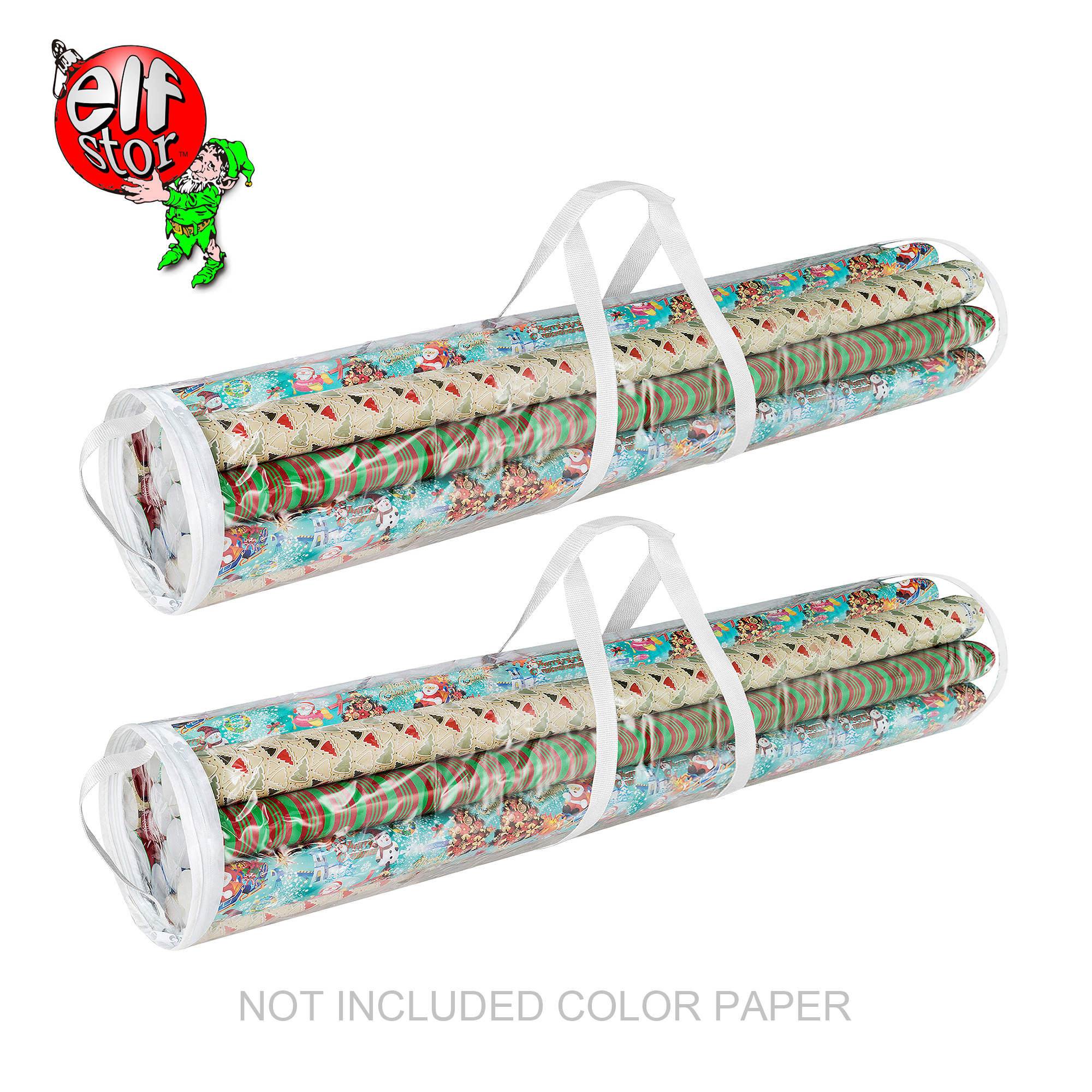 Elf Stor Wrapping Paper and Gift Wrap Storage Bag for 40 Inch Rolls | 2 Pack