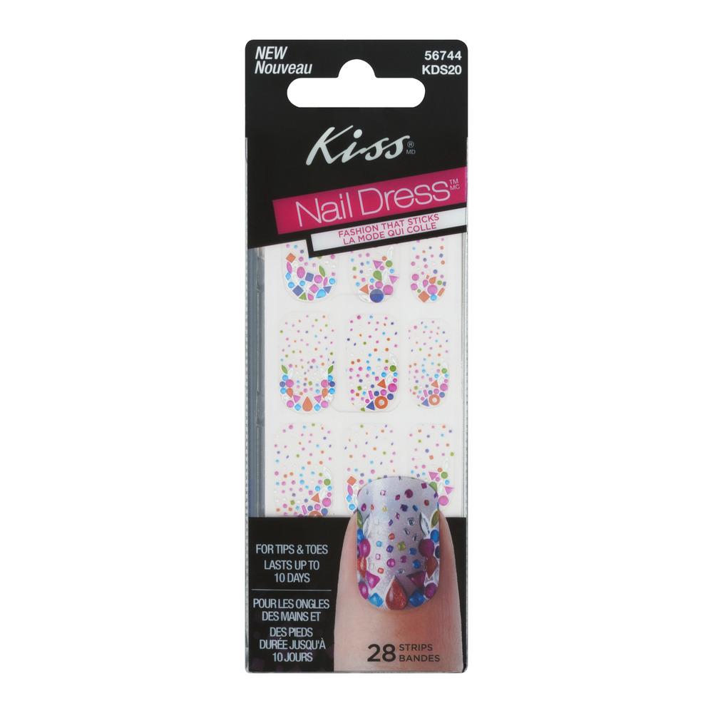 Kiss Nail Dress for Tips & Toes Strips - 28 CT - Walmart.com
