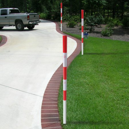 Image of FiberMarker Reflective snow Markers 72inchx1.8inch U-Post Driveway Markers with Red White Reflective Tape(4pack)