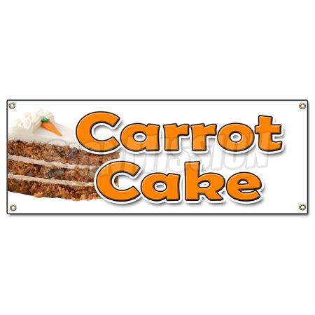CARROT CAKE BANNER SIGN carrots sweet cake cream cheese raisins icing cupcake