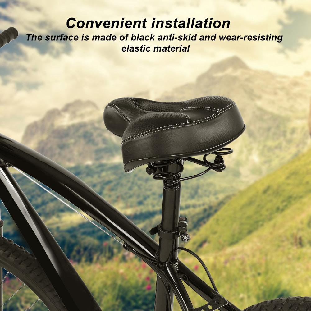 Vtt Extra Large Confort Selle Bicyclette Siège Rembourré Souple Vélo Route