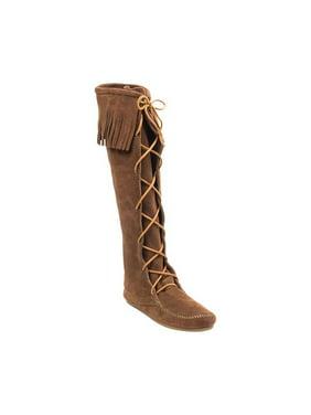 Women's Minnetonka Knee High Fringe Boot