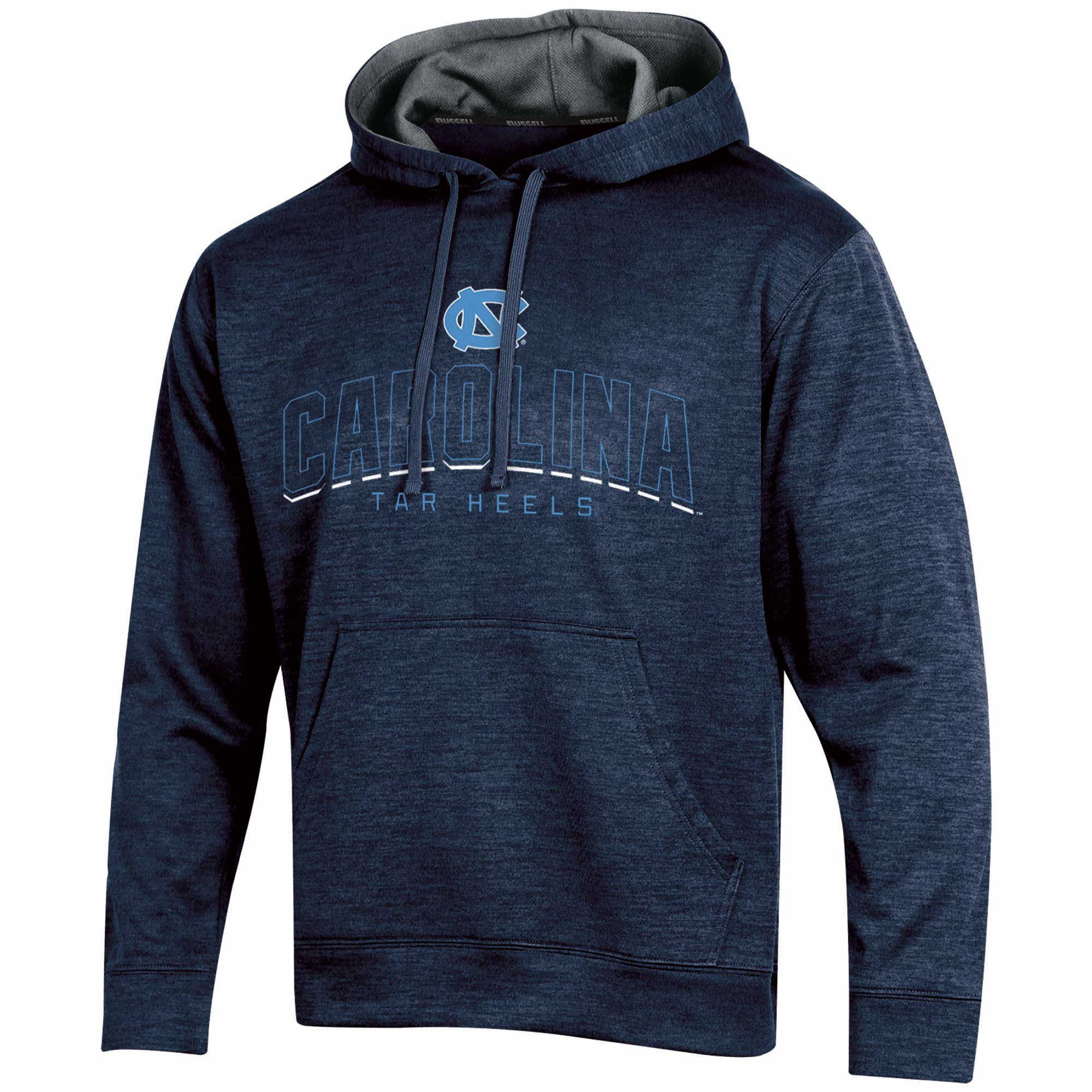 Men's Russell Navy North Carolina Tar Heels Synthetic Pullover Hoodie