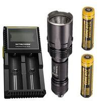 Combo: Nitecore Tiny Monster TM03 CRI CREE XHP70 LED Flashlight -2600 Lumens -Includes 2x IMR 18650 Battery +D2 Charger +FREE Battery Case