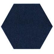 Saturn Collection Solid Color Indoor Outdoor Area Rugs Navy - 7' Hexagon