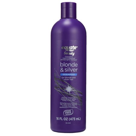 Equate Beauty Blonde & Silver Shampoo, 16 fl oz (Best Silver Shampoo For Yellow Hair)
