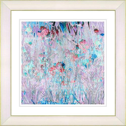 Studio Works Modern Spring 'Meadow' by Zhee Singer Framed Painting Print in Purple/Blue