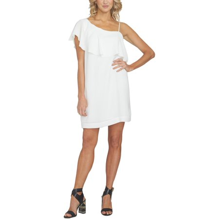 Rayon Crepe Dress - 1.State Womens Crepe One Shoulder Cocktail Dress
