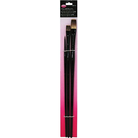 Donna Dewberry Woils Brush Set, #8 Flat, #6 Bright, #0 Round