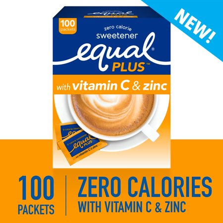 (100 Packets) Equal Plus Sweetener with Vitamin C and